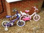 2 GIRL'S Bicycles,  Two girls bikes,  one pink,  one....